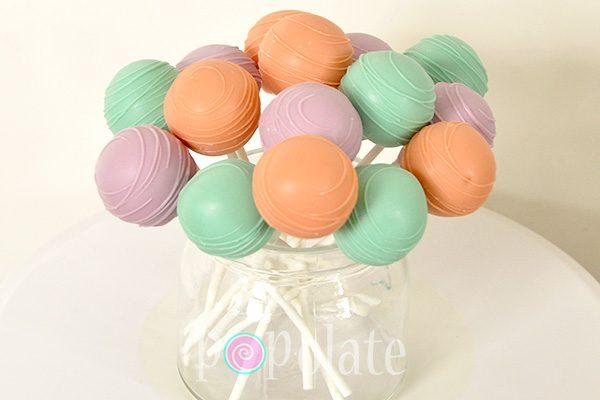 Mint gree, peach, lavender cake pops