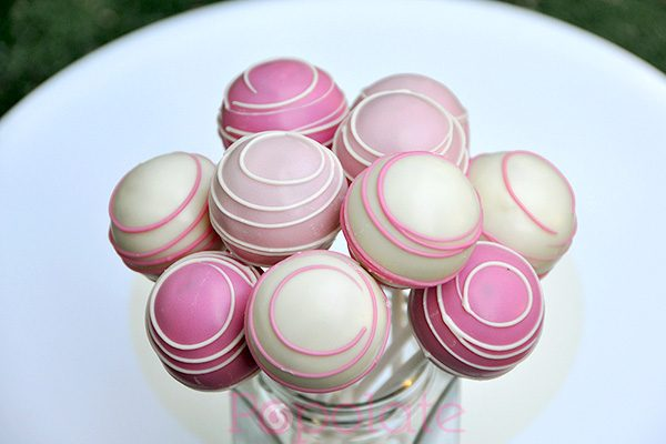 Pink shades cake pops