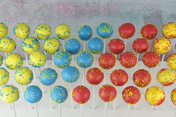 Pokemon sprinkle cake pops